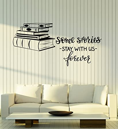 Amazon.com  Large Vinyl Wall Decal Books Shop Quote Library Reading ... ae115b6d5248