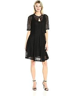 8d0b02b3316 ROBBIE BEE Women s Missy 2 Pc Crochet Jacket Dress at Amazon Women s ...