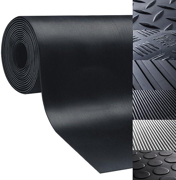 nombreux mod/èles et tailles int/érieur ou ext/érieur isolant 150x300cm antid/érapant r/ésistant Rev/êtement de sol etm/® tapis caoutchouc tapis noir pastill/é