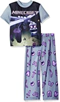 Minecraft Big Boys' Minecraft Short Sleeve Long Leg Pajama Set