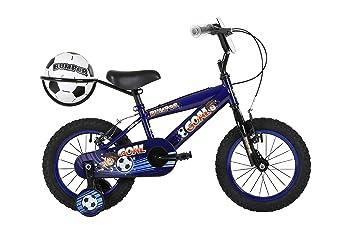 Bumper objetivo, niños bicicleta, para bicicleta, rueda de 16 pulgadas, color azul, trasero y fútbol: Amazon.es: Deportes y aire libre