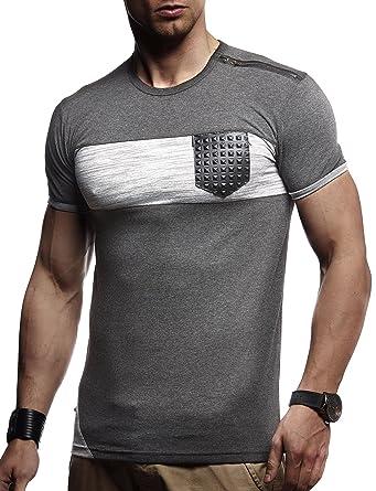 Leifheit Nelson - Camiseta para Hombre Sudadera Slim Fit ln780: Amazon.es: Ropa y accesorios