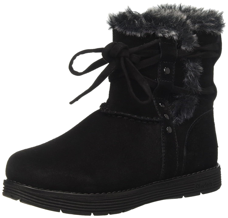 Skechers Damen Adorbs-Plushy Stiefel, Schwarz  38 EU|Schwarz (Black)