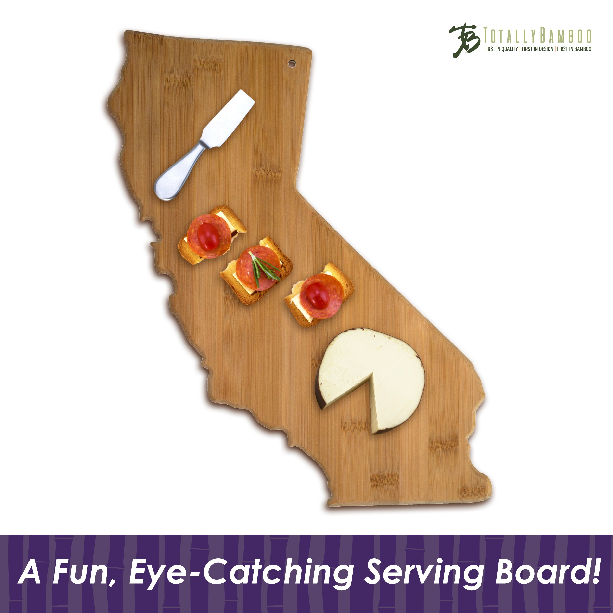 Totally Bamboo California State Shaped Bamboo Serving and Cutting Board by Totally Bamboo (Image #2)
