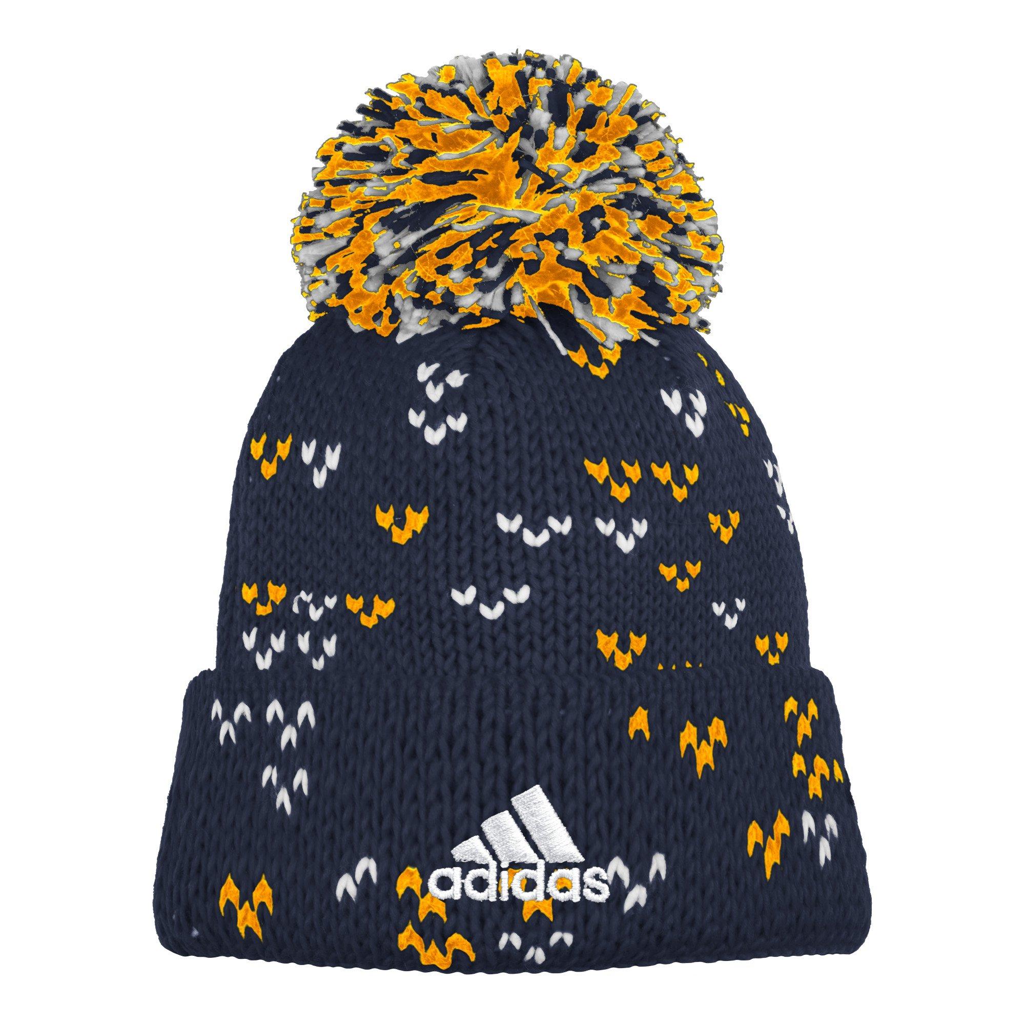 874132005 adidas MLS Los Angeles Galaxy Women's Fan Wear Cuffed Pom Knit Beanie, One  Size, Black