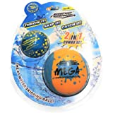 Wave Runner Soft Foam Water Skipping Ball | 2-Pack Bundle | Speed Duo Set Includes Two Water Bouncing Balls Mega Ball & Grip