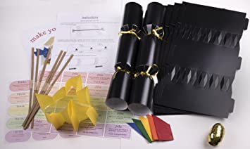 Jesters 10 x make your own 14 black christmas cracker kits amazon jesters 10 x make your own 14quot black christmas cracker kits solutioingenieria Gallery