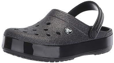 a2d34946b9a crocs Crocband Glitter Clog Noir Croslite