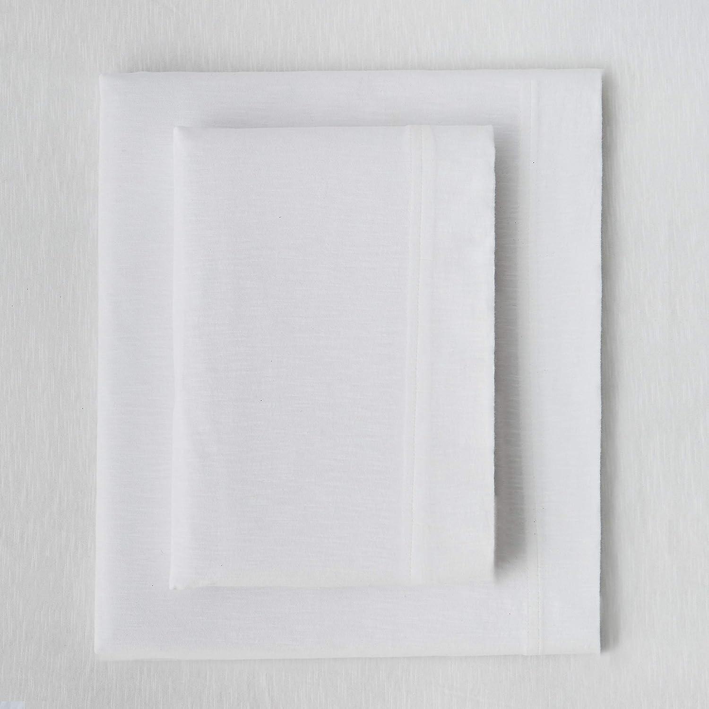 Splendid Home Slub Jersey Solid Sheet Set, King, White