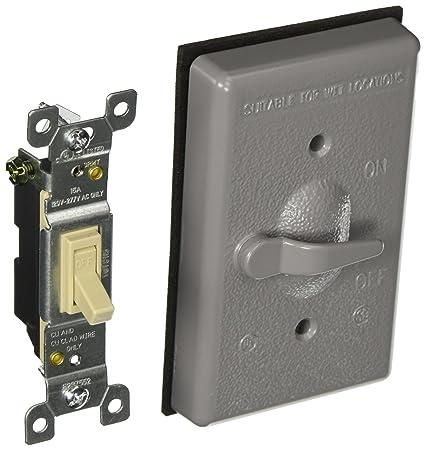 Hubbell 5121 0 Gray Wp Coverswitch Wall Light Switches Amazoncom
