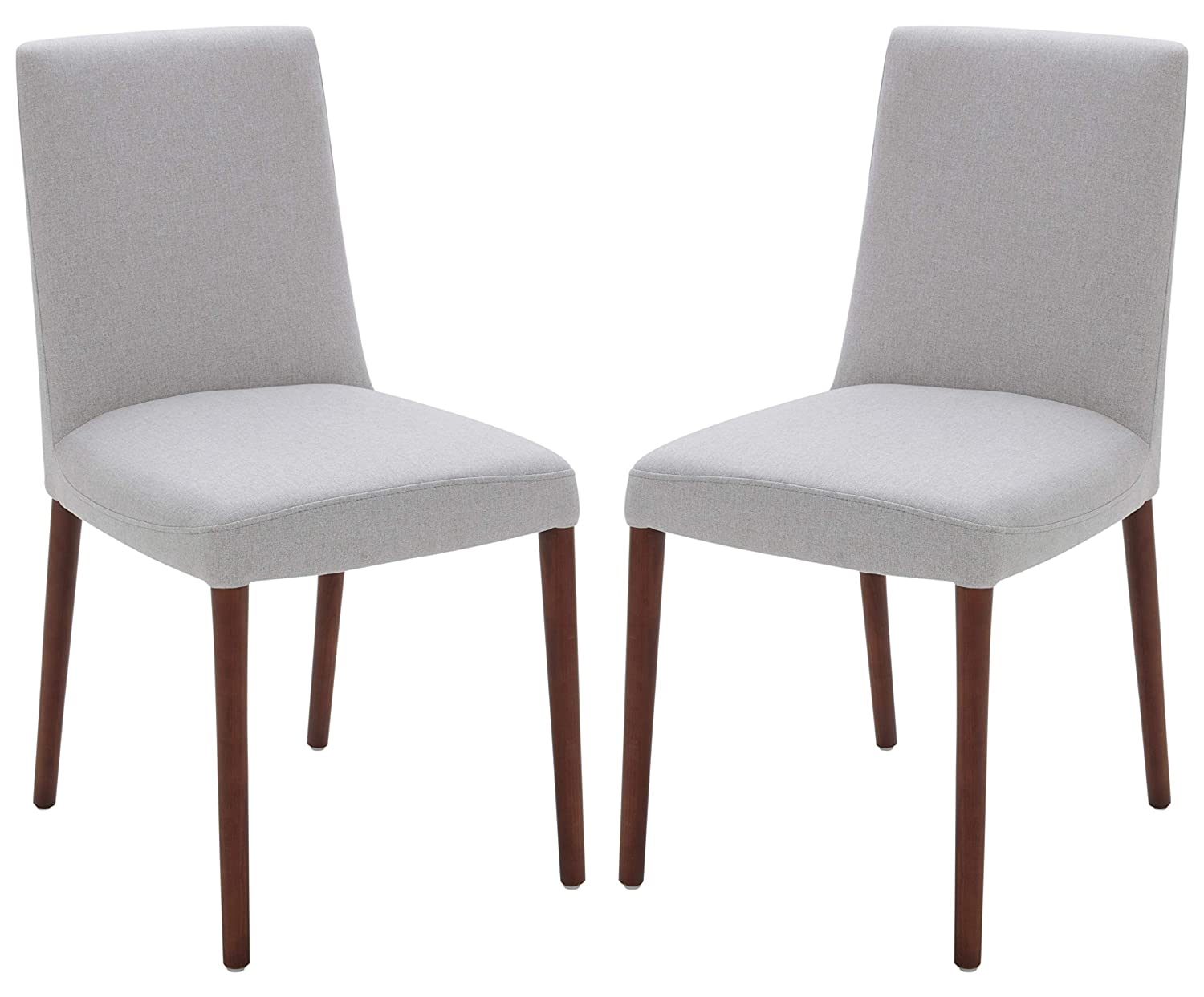 """Rivet Contemporary Square-Back Armless Dining Chair, 34""""H, Felt Gray, Set of 2, Queen"""