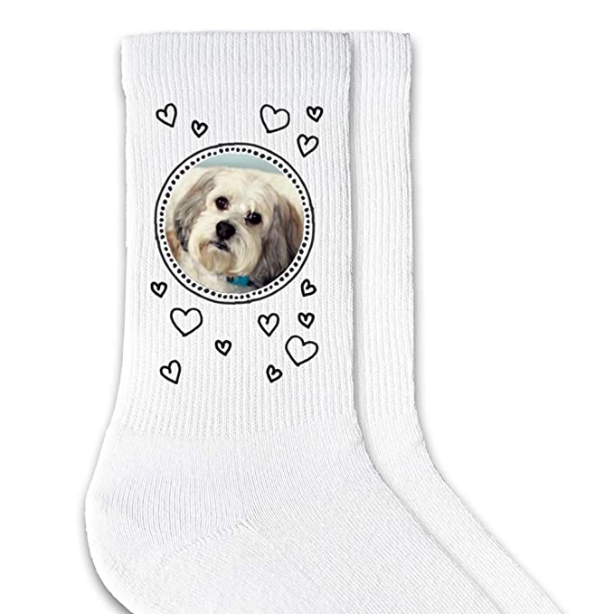 d43ef0e724 Amazon.com  Print Your Pet s Photo on a Pair of Custom Printed Socks ...