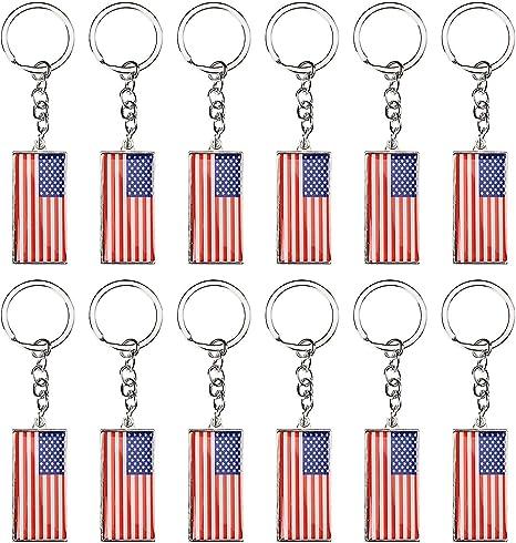 Amazon.com: Llaveros con la bandera de Estados Unidos ...