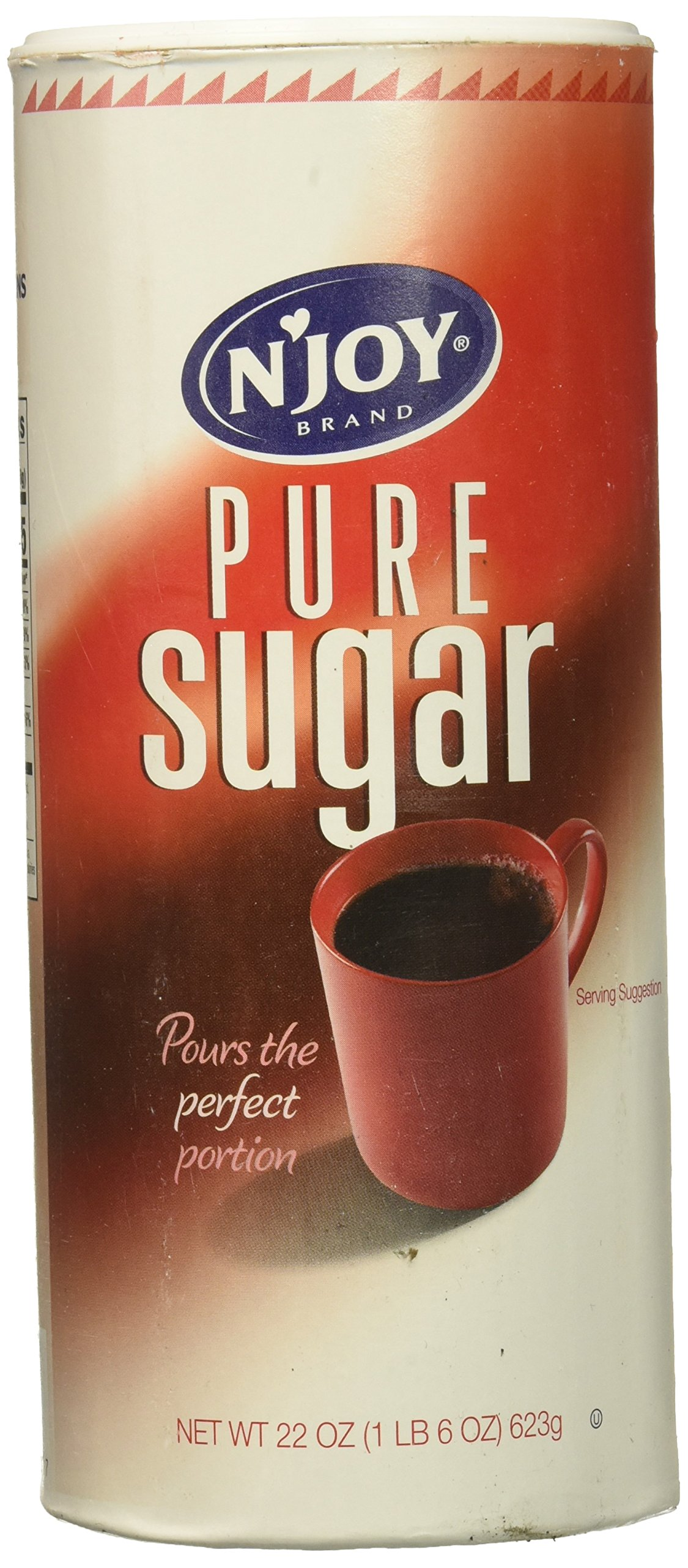 N'JOY Pure Cane Sugar,  22 oz. Canisters (Pack of 8) by N'Joy