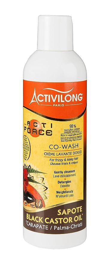 Activilong Actiforce Co Wash crema Lavadora suave, ricino, aceite de ricino negro, 240