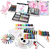 135-Piece Kiddycolor Painting Drawing Art Set with Sketchpad Aluminum Case