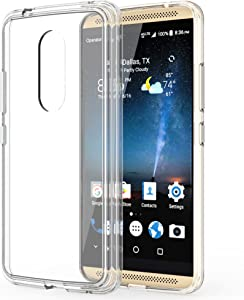 ZTE Axon 7 Case, TownShop Ultra Slim Hybrid Clear Soft TPU Side and Clear Hard Acrylic Back Panel Scratch Resistant for ZTE Axon 7