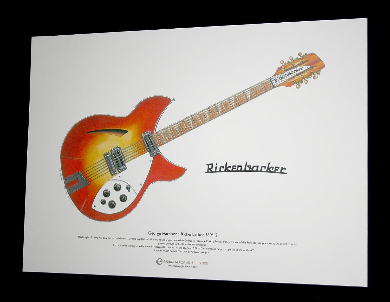 Amazon.com: George Harrison de 1964 Rickenbacker 360/12 Arte ...