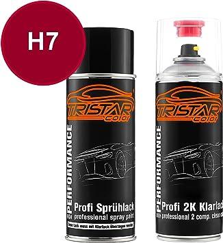 Tristarcolor Autolack 2k Spraydosen Set Für Vw Volkswagen H7 Paprikarot Paprika Red Basislack 2 Komponenten Klarlack Sprühdose Auto