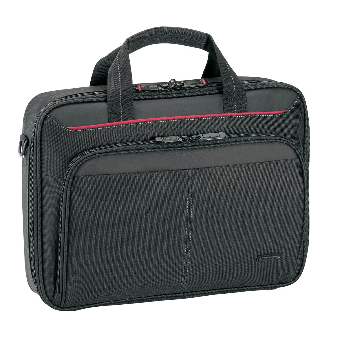 Targus Classic Clamshell Premium Protective Laptop Bag with Handles specifically designed to fit up to 12-13.4-Inch, Black (CN313)