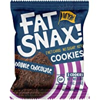 Fat Snax Cookies - Low Carb, Keto, and Sugar Free (Double Chocolate Chip, 6-pack (12 cookies)) - Keto-Friendly & Gluten…
