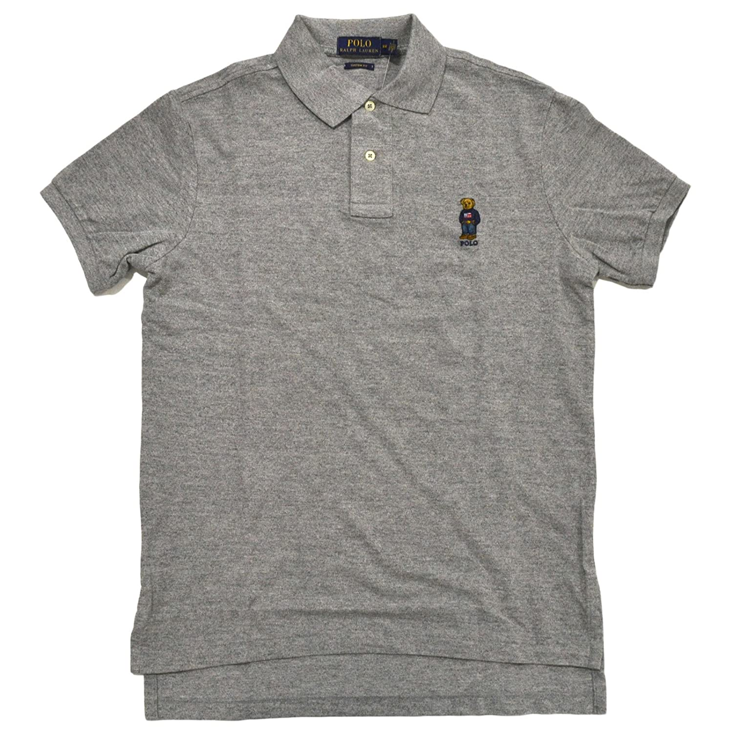 1341baab4 Polo Ralph Lauren Mens Custom Fit Bear Logo Polo Shirt at Amazon Men's  Clothing store: