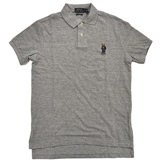 Polo Ralph Lauren Mens Custom Fit Bear Logo Polo Shirt At Amazon