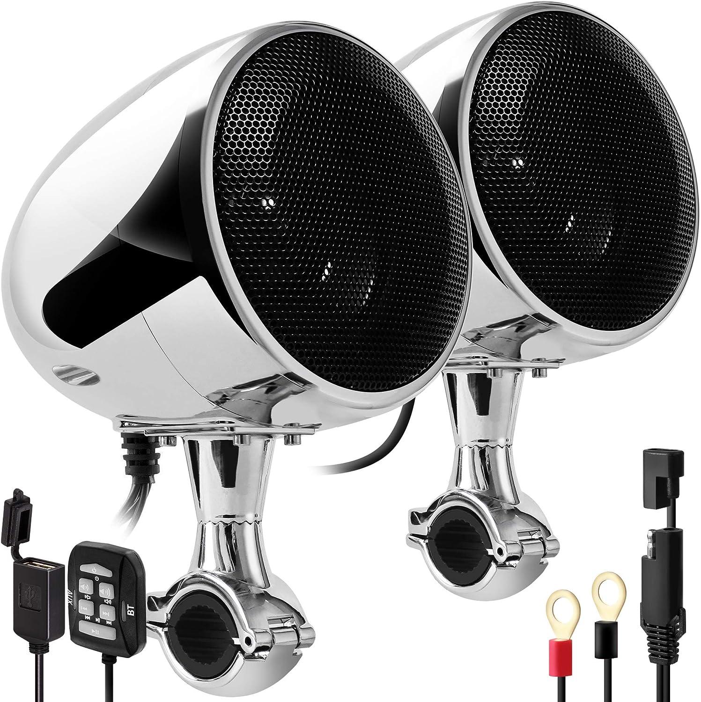 GoHawk AN4 Gen.3 Waterproof Bluetooth Motorcycle Stereo Speakers