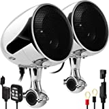 "GoHawk AN4 Gen.3 All-in-One Built-in Amplifier 4"" Full Range Waterproof Bluetooth Motorcycle Stereo Speakers Audio Amp System"