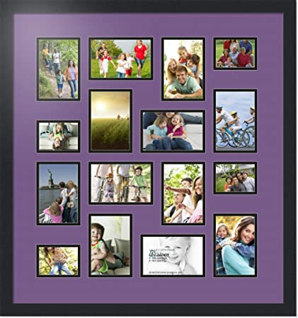 34f4f1987591 Buy Art to Frames Double-Multimat-187-849/89-FRBW26079 Collage Photo Frame  Double Mat with 4-3x4 and 12-4x6 Openings and Satin Black Frame Online at  Low ...