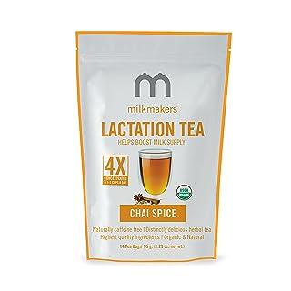 Milkmakers Lactation Tea, 1.23 Ounce, Chai, 14 Tea Bags