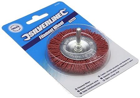 Outils électriques 50 mm-Coarse Brush Autres Silverline 217613 Filament Wheel Coarse