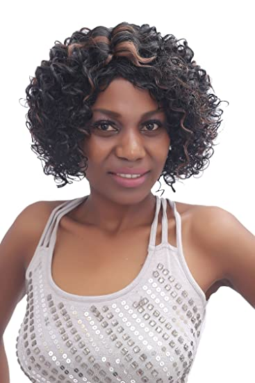 BUTY Synthetic Short Curly Wig for Women Sexy Afro Style Natural Looking Ventilating Female Pelucas,