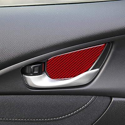 Real Carbon Fiber door handle protector fit for Honda 2018 Civic Type-R FK8