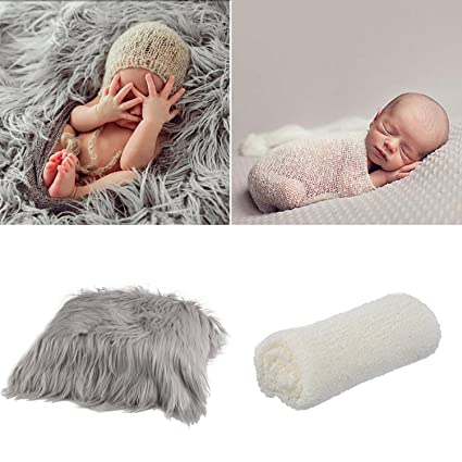 64ea7ed2ed5 Aniwon 2Pcs Baby Photo Props Long Ripple Wraps Blanket Newborn Photography  Mat  Amazon.ca  Luggage   Bags
