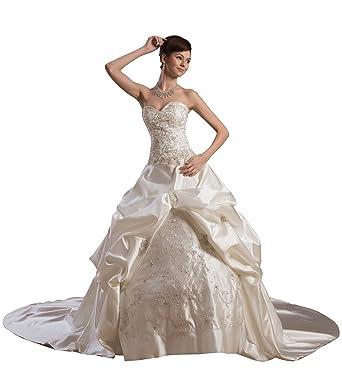 ImPrincess Wedding Dress Medieval Style NO.ip4-5598 at Amazon ...