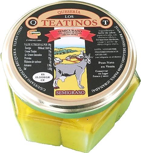 Queso de cabra artesanal sabor intenso y delicios. Quesería Artesanal los teantinos. (varios formatos) Envió GRATIS 24 h . (Tarro en aceite, 400gr ...