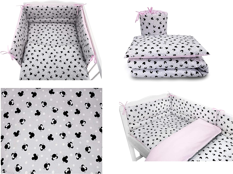 Bumper 5 pc Baby Bedding Set for COT 120X60 OR COT Bed 140X70cm Inc COT Bed 140X70, City-Cars Duvet+Pillow+Duvet Cover+Pillow CASE