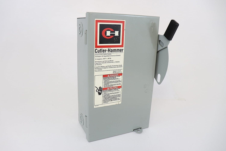 Eaton DH362NRK 4 Wire 3 Pole Fusible K Series Heavy-Duty Safety Switch 600 Volt AC 60 Amp NEMA 3R