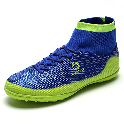 a26f9bc2f Indoor Outdoor Soccer Shoes Athletic Turf Mundial Team Cleat Football Boots  Running Sports Lightweight Breathable Anti-Skid Damping Shoes for Men and  Kids ...