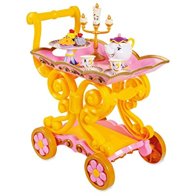 Disney Beauty and The Beast ''Be Our Guest'' Singing Tea Cart Play Set: Toys & Games