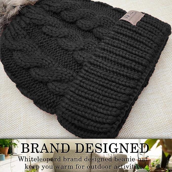db802b3b98028 Hats   Caps Amandir Kids Winter Hats Fleece Lined Knit Toddler Girls Beanie  Baby Confetti Warm ...
