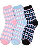 HASLRA Premium Soft Warm Microfiber Fuzzy Socks 2-5 Pairs