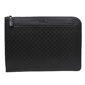 e96c8b83f Amazon.com | Gucci Diamante Midnight Black Designer Leather Portfolio Bag  for Men and for Women 368564 | Briefcases