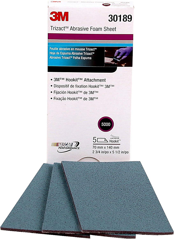 5000 grit, 3M-30362 3M 30362 Trizact Hookit Foam Discs 15 Sheets 3 inch