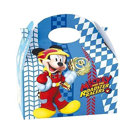 ALMACENESADAN 014001343, Pack 4 cajas para chuches Mickey Mouse y los Superpilotos.