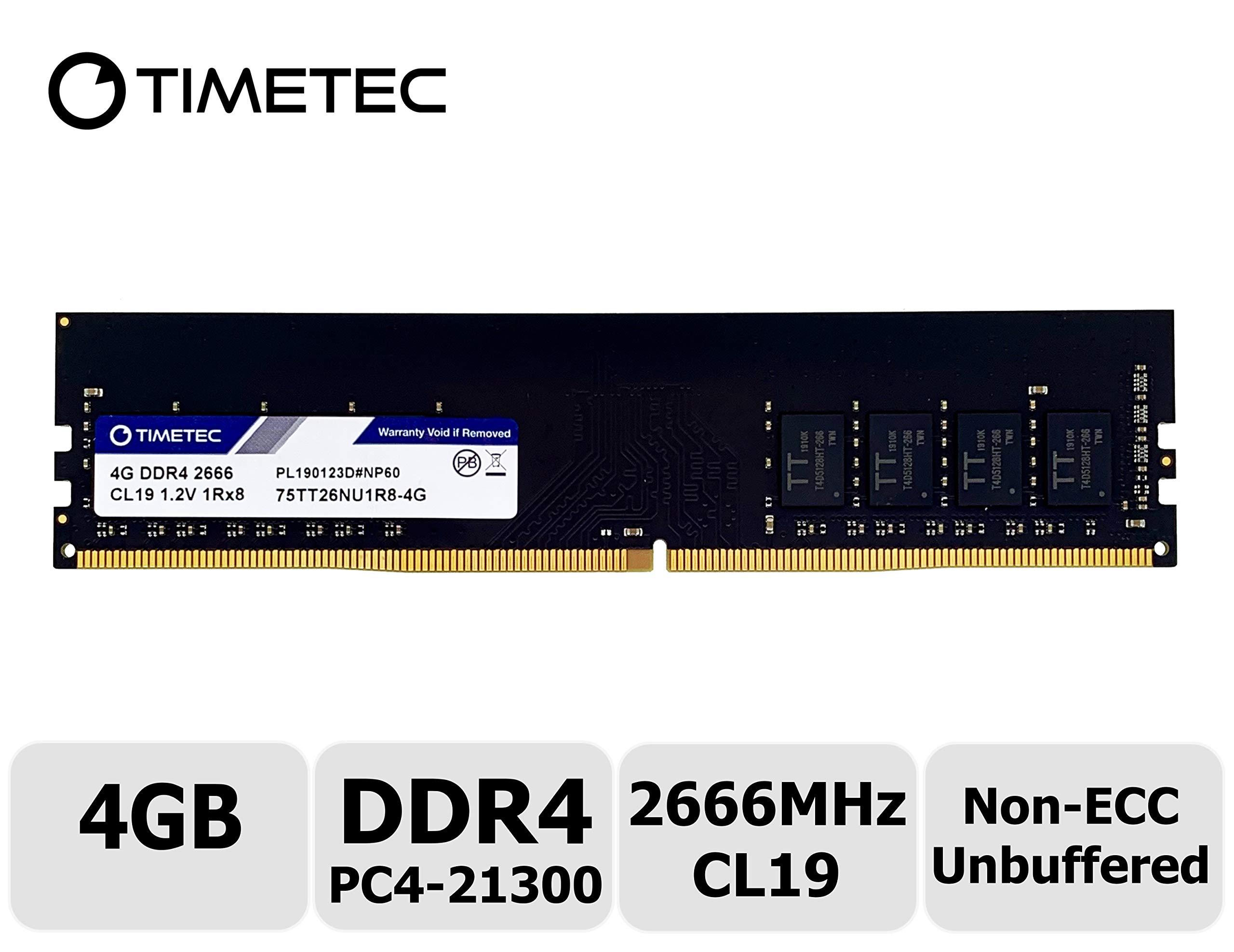 Memoria Ram 4GB DDR4 2666MHZ PC4-21300 TIMETEC