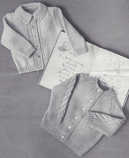 882e95925e21 Amazon.com  Vintage Knitting PATTERN to make - Baby Toddler Crew ...