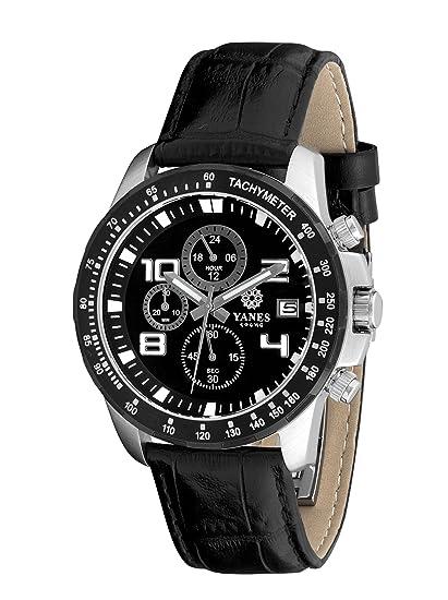 Yanes 120290008 - Reloj de Caballero de quarzo piel
