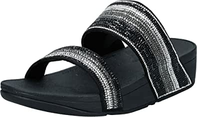 FitFlop womens Rosa Crystal Mosaic Slides